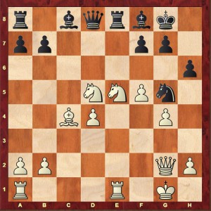 A grim position for Black after White's 22nd move
